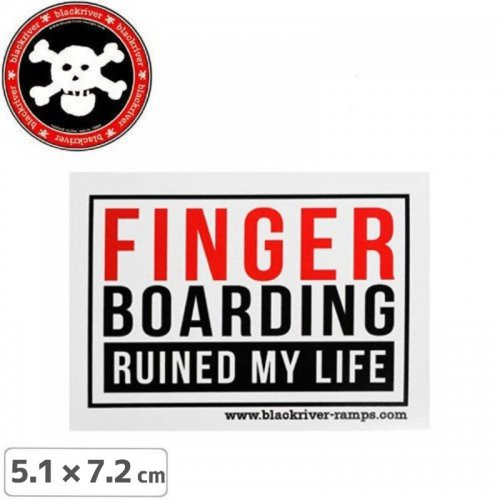 【BLACKRIVER ステッカー】RUINED MY LIFE STICKER【5.1cm x 7.2cm】NO14