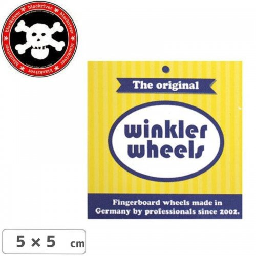 【BLACKRIVER 指スケ ステッカー】WINKLER WHEELS LOGO STICKER【5cm x 5cm】NO17