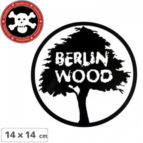 【BLACKRIVER ステッカー】BERLIN WOOD LOGO STICKER【14cm x 14cm】NO20