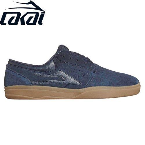 【LAKAI LIMITED FOOTWEAR ラカイ スケート シューズ】GRIFFIN XLK SHOES スウェード【ネイビー】NO73
