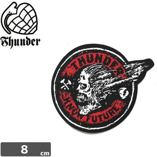 【サンダー THUNDER スケボー ワッペン】SCREAMING SKULL PATCH【8cm x 6.5cm】NO1