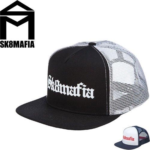 【スケートマフィア SK8MAFIA スケボー キャップ】SKATEMAFIA OLD E TRUCKER HAT【2カラー】NO30