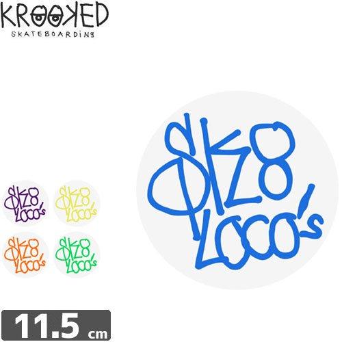 【クルックド KROOKED スケボー ステッカー】SK8 LOCOS STICKER【5カラー】NO28