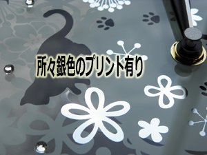 ガラス製掛け時計【ボタニカルキャッツ】
