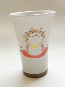 フリーカップ【招きしましま猫】