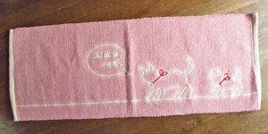 おやこ猫のロングキッチンマット【ピンク】
