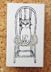 Shinzi Katoh シニョンスタンプ【猫と椅子】