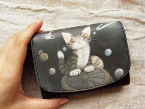 アート2つ折り財布【天球】