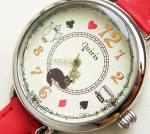 腕時計【笑うチシャ猫】レッド