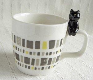 ちょこんとお座り黒猫さんマグカップ