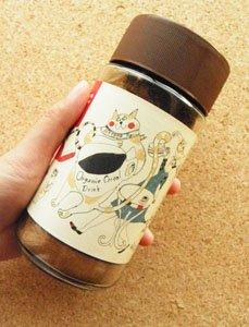 ノンカフェインのオーガニックコーヒー【猫が注ぐコーヒー/100g】茶色の蓋
