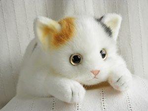 日本製のぬいぐるみL【三毛猫】