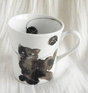 マグカップ【ふわふわ黒猫】
