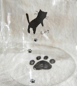 耐熱ガラス製ティーポット【黒猫足跡てててっ】
