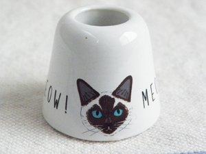 Meow ペン&歯ブラシスタンド【シャム猫のジル】Sサイズ