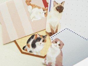 フレークステッカー【猫ラベル】