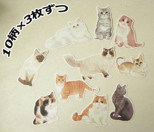 フレークステッカー【色々な猫/ダイカット】