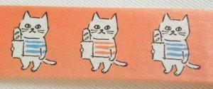 マスキングテープ【ぼんじゅー猫】赤系
