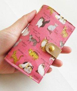 カードケース【ねこ図鑑】ピンク