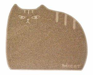 猫ちゃんの砂取りマット【しましま猫】ブラウン