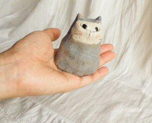 信楽焼きの猫【にんにん猫】スリム