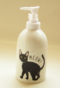 Meow ソープディスペンサー【黒猫のフィ...