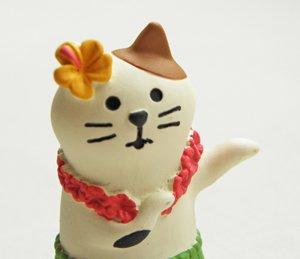 まったり猫シリーズ【三毛猫フラダンス】
