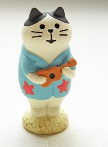 まったり猫シリーズ【ハチワレ猫のウクレレ】