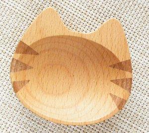 木製まめざら【しましまにゃー】フェイスVer.
