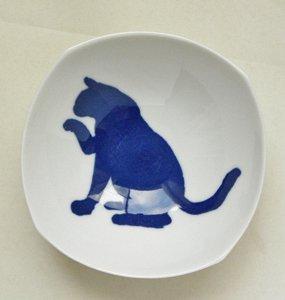 深皿【招く青猫】