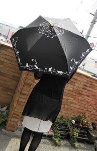 折りたたみ晴雨兼用傘【薔薇の庭で遊ぶ...
