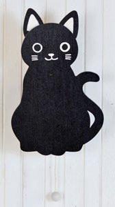 耳がぴょこぴょこ動く☆壁掛けオルゴール【黒猫】