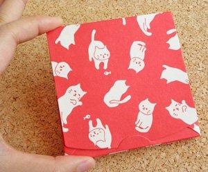 ふわり あぶらとり紙【ねこうにゃにゃ】赤