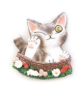 猫のダヤンレリーフマグネット【バルトBABY】