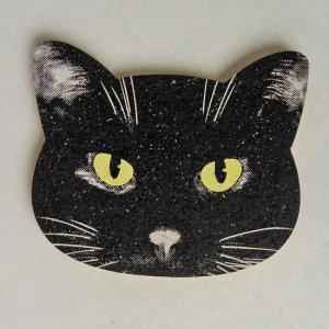 猫型コルクコースター【クロネコ】