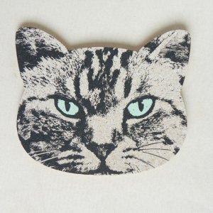 猫型コルクコースター【シマネコ】