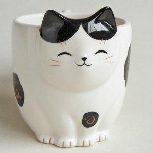 猫みたいなマグカップ【白黒はちわれ猫】