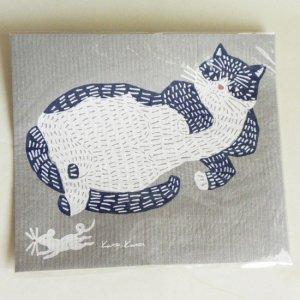 katakata キッチンワイプ【ごろりん猫とネズミ】大サイズ