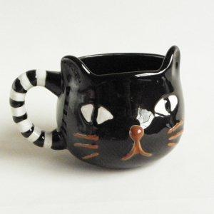 ねこ型マグカップ【黒猫】