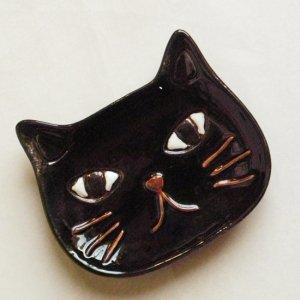 ねこ型プレート【黒猫】
