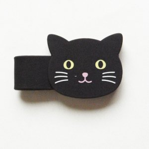 アニマルマグネットクリップ【黒猫】