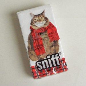sniffi ペーパーナプキン ティッシュサイズ 【ムッシュ髭猫】