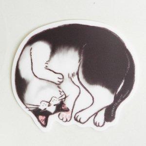 かまって寝 マウスパッド【ハチワレ猫】