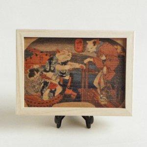 歌川国芳のポストカード桐箱【猫のすずみ】
