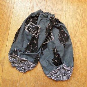 黒猫のアームカバー【ディープブルー】