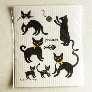 スウェーデン製スポンジワイプ【ねこネコ猫!】