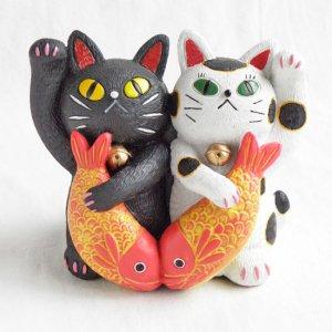 糸井 忠晴  招き猫の置物【Lサイズ】