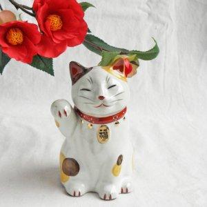 福鈴招き猫【右招き】三毛