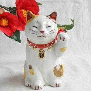 福鈴招き猫【左招き】三毛