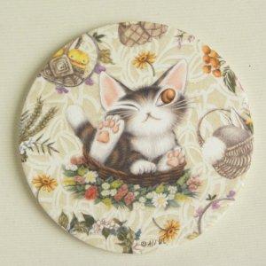 猫のダヤン 卵のからコースター【バルトBABY】